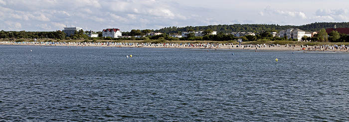 Ahlbeck Blick von der Seebrücke: Ostsee, Strand