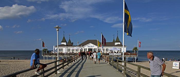 Ahlbeck Strand, Seebrücke, Ostsee