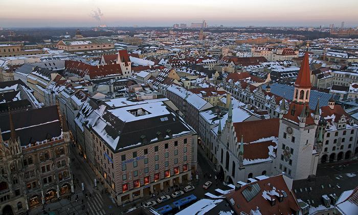 Blick von St. Peter (Alter Peter): Altstadt - Graggenauer Viertel München