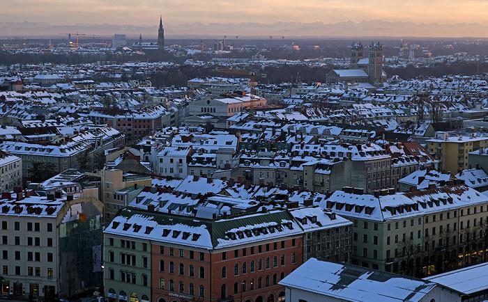 Blick von St. Peter (Alter Peter): Ludwigsvorstadt-Isarvorstadt München