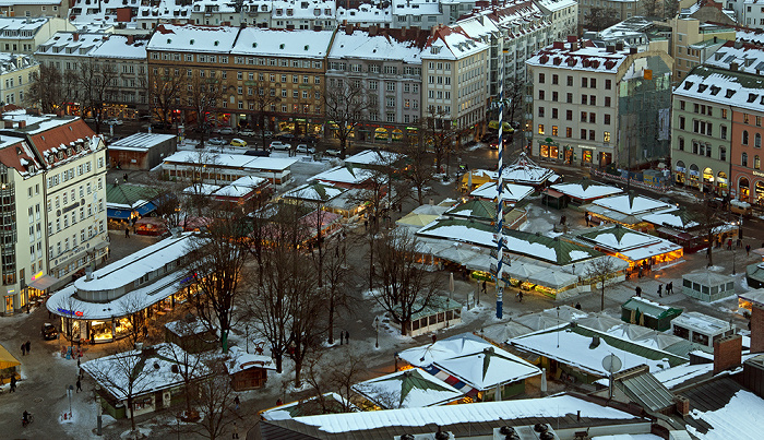 Blick von St. Peter (Alter Peter): Altstadt - Viktualienmarkt München