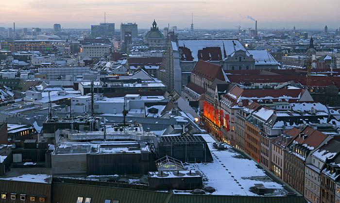 Blick von St. Peter (Alter Peter): Altstadt - Kaufingerstraße München