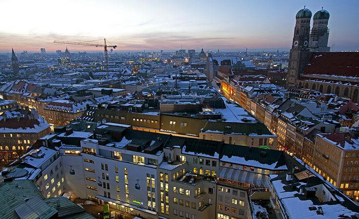 Blick von St. Peter (Alter Peter): Altstadt-Lehel, Ludwigsvorstadt-Isarvorstadt München