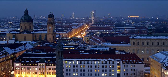 Blick von St. Peter (Alter Peter): Altstadt, Maxvorstadt, Schwabing München