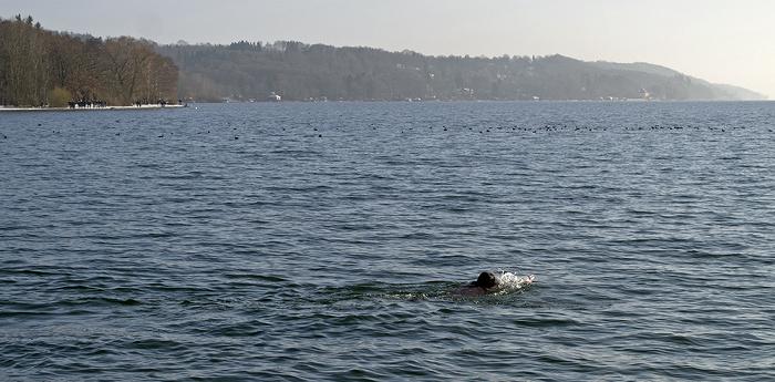 Starnberger See: Schwimmen als Wintersport