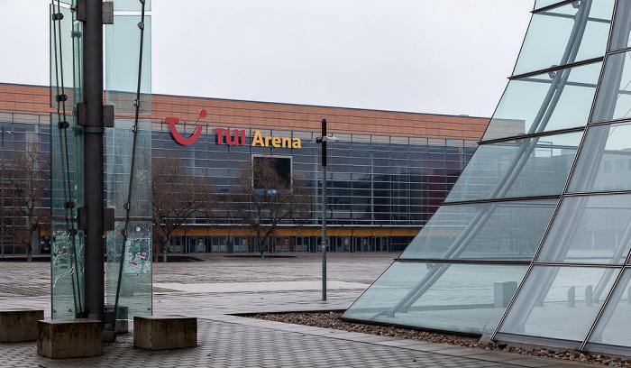 Expo Park Hannover (ehem. EXPO-Ost-Gelände): EXPO Plaza und TUI Arena (ehem. Preussag Arena) Deutscher Pavillon EXPO 2000 EXPO 2000