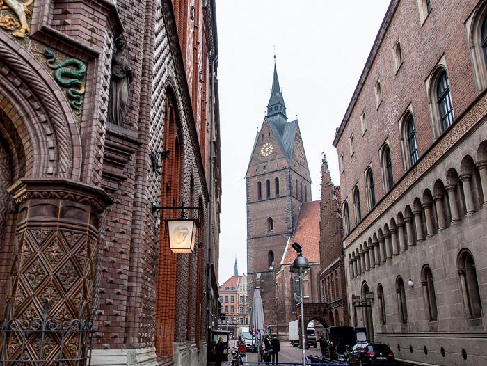 Hannover Altstadt: Köbelingerstraße Altes Rathaus Marktkirche