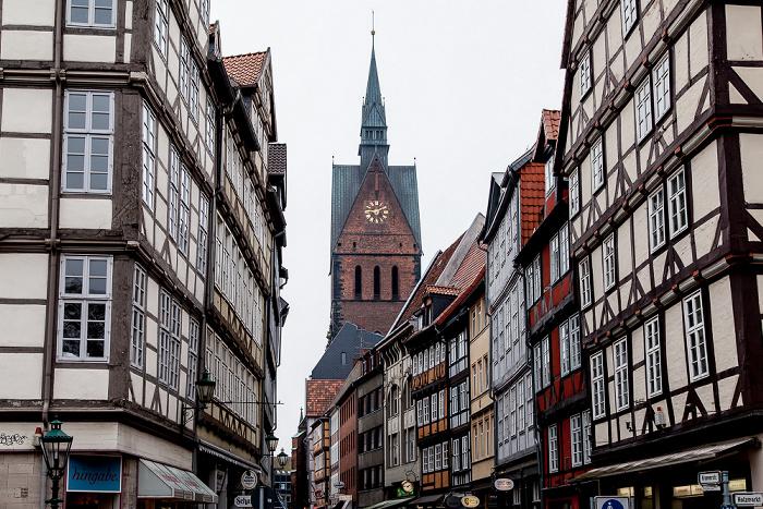 Hannover Altstadt: Kramerstraße Marktkirche