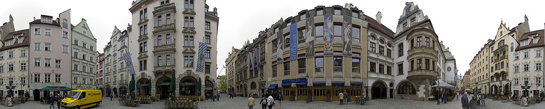 München Altstadt: Platzl (u.a. mit Hofbräuhaus, Hard Rock Cafe)