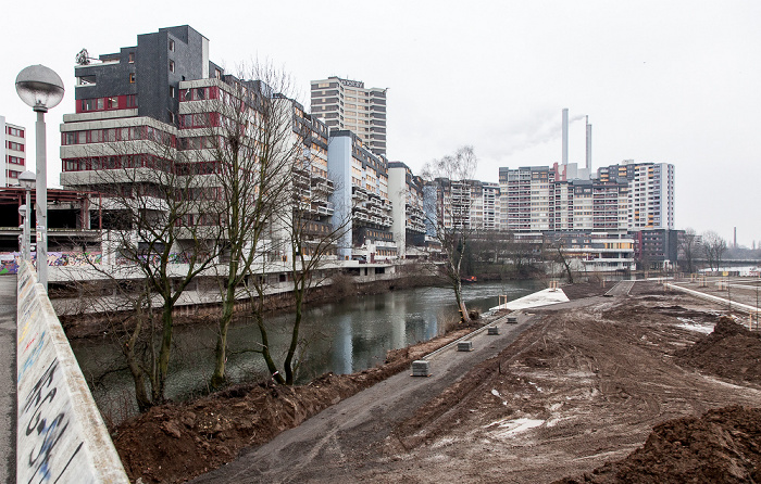 Hannover Linden: Ihme-Zentrum und Ihme Heizkraftwerk Linden
