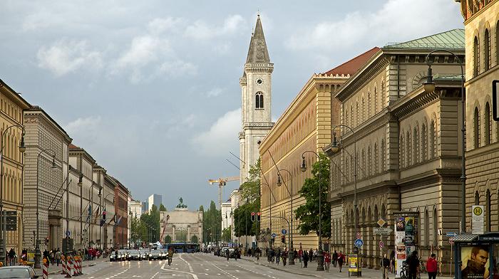 München Maxvorstadt: Ludwigstraße Bayerische Staatsbibliothek Bayerisches Hauptstaatsarchiv Ludwigskirche Siegestor