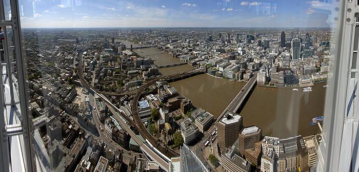 Blick von The Shard London