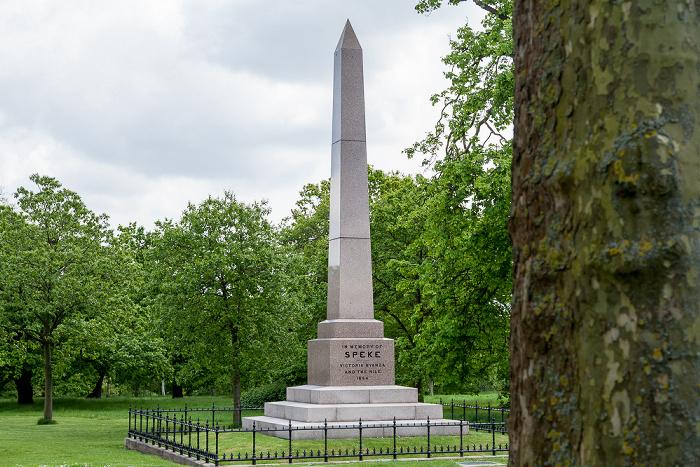London Kensington Gardens: Speke Monument