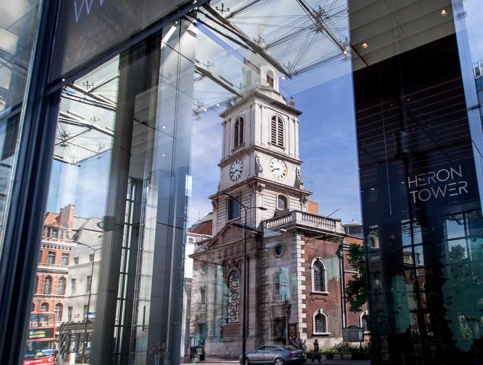 City of London: Heron Tower (110 Bishopsgate) St Botolph-without-Bishopsgate