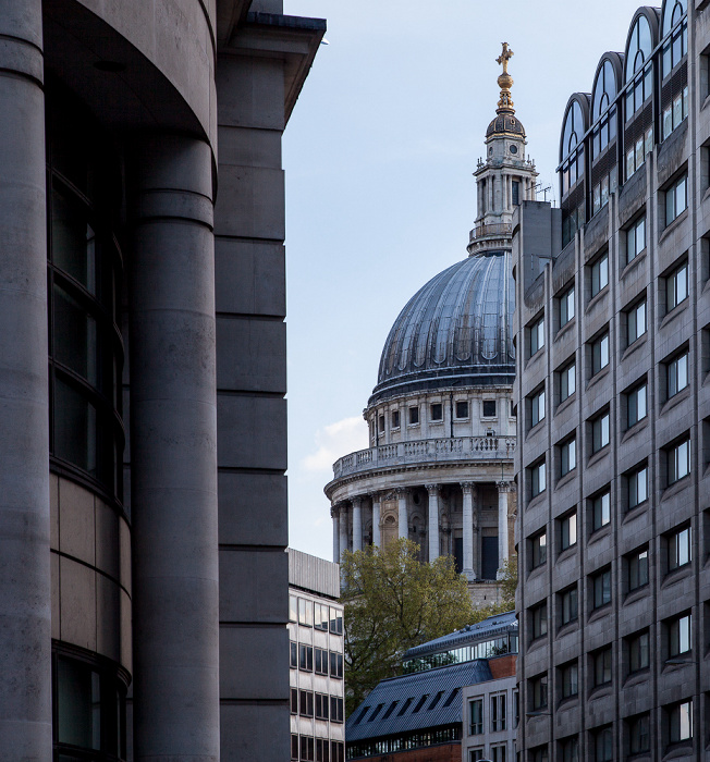 City of London: St Martin's Le Grand, St Paul's Cathedral London