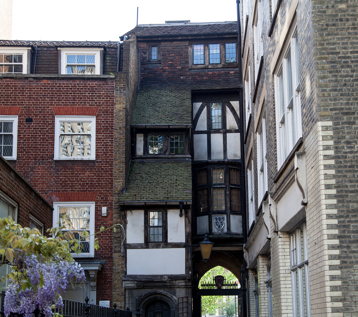 City of London: Innenhof der St Bartholomew-the-Great (Great St Barts) London