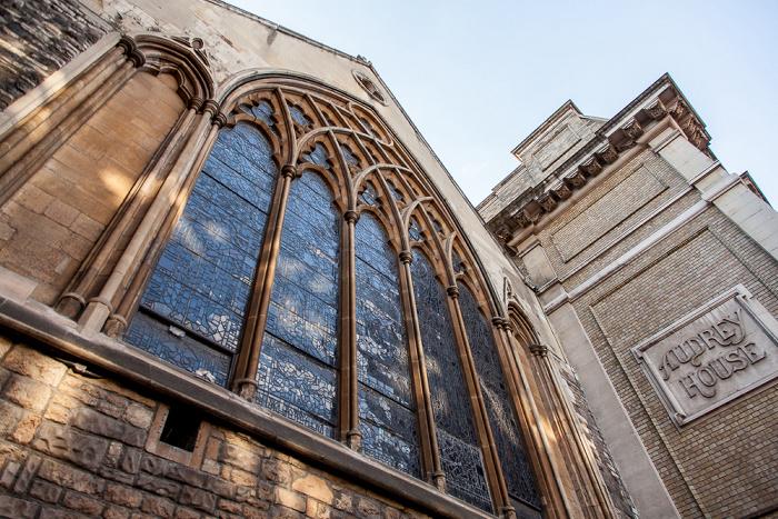 London Holborn: Ely Place - St Etheldreda's Church Audrey House