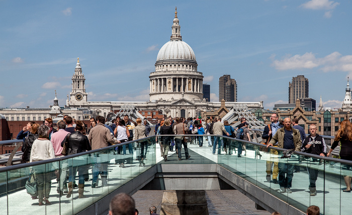 City of London: Millennium Bridge, St Paul's Cathedral London 2013