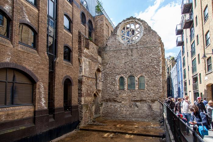 London Bankside: Clink Street - Ruinen von Winchester Palace