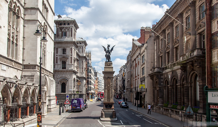 City of Westminster (vorne) / City of London (hinten): Strand / Fleet Street - Temple Bar Memorial