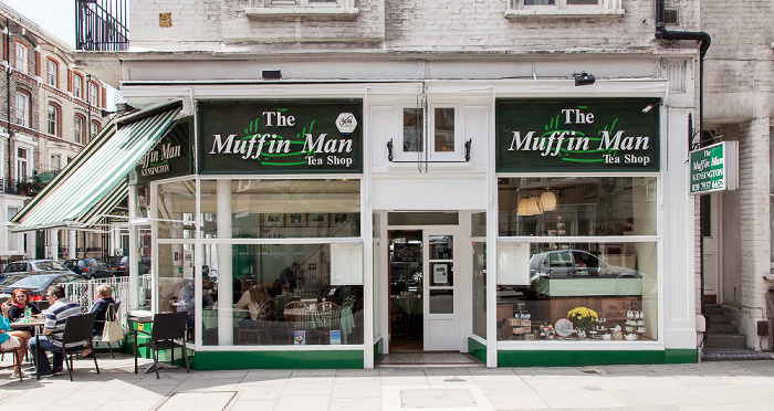 Kensington: Wrights Lane - The Muffin Man Tea Shop London