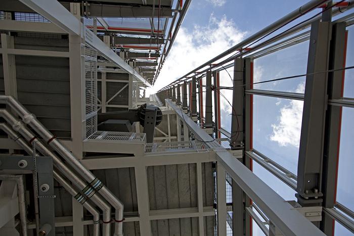 London The Shard: Turmspitze oberhalb der Aussichtsplattform