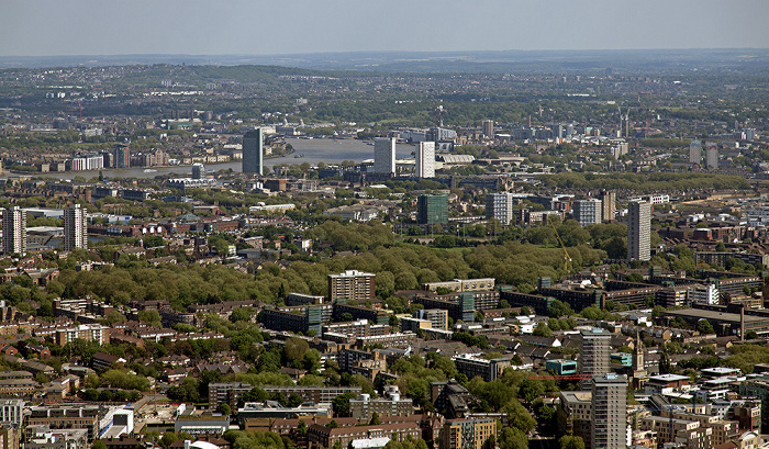London Blick von The Shard: Blick nach Osten Greenwich Greenwich Park Royal Greenwich Observatory Themse