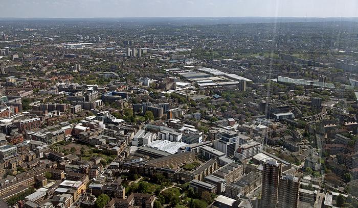 London Blick von The Shard: Blick nach Süden