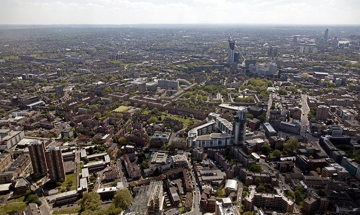 London Blick von The Shard: Blick nach Südwesten Strata SE1