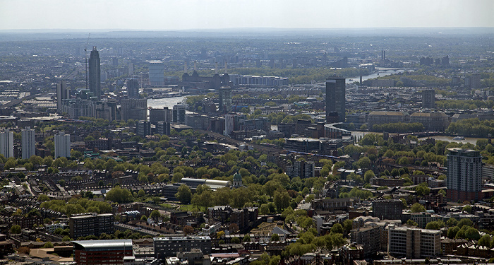 London Blick von The Shard: Blick nach Westen Battersea Power Station Themse