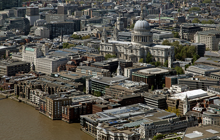 Blick von The Shard: City of London - St Paul's Cathedral London