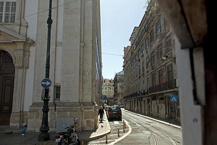 Eléctrico 25: Largo do Corpo Santo / Rua do Corpo Santo Lissabon