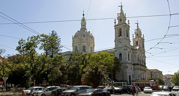 Eléctrico 25: Praça da Estrela, Basílica da Estrela Lissabon
