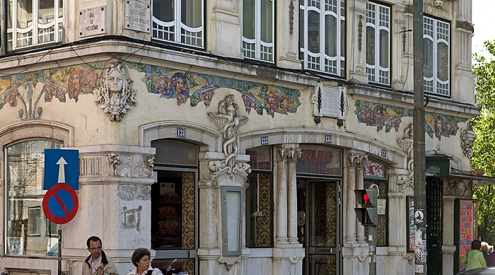 Eléctrico 25: Rua Patrocínio / Rua Saraiva de Carvalho Lissabon
