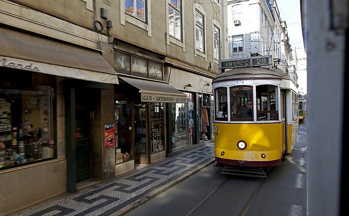 Eléctrico 28: Rua da Conceição Lissabon 2013