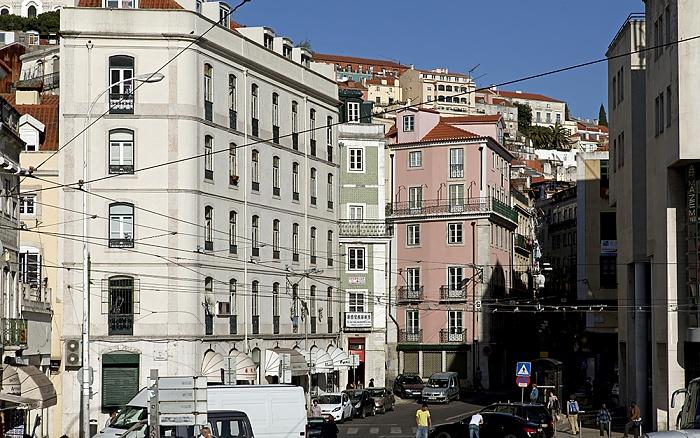 Eléctrico 28: Largo do Martim Moniz - Rua Fernandes da Fonseca Lissabon