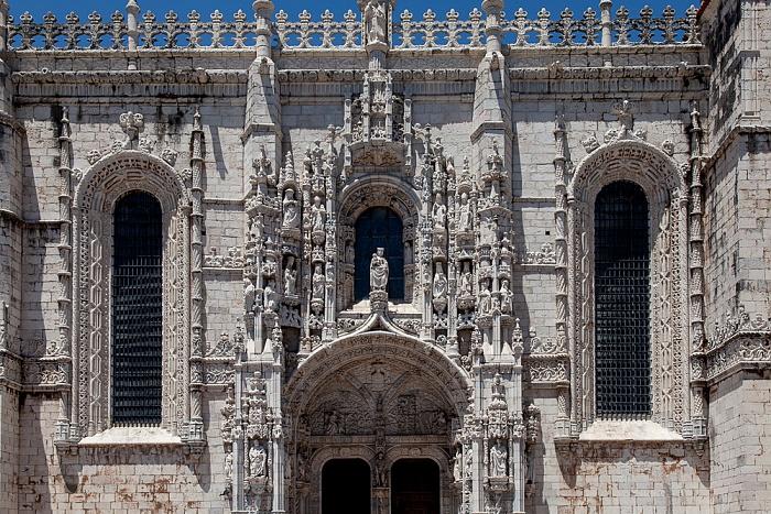 Belém: Mosteiro dos Jerónimos - Südportal Lissabon 2013