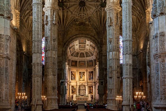 Belém: Mosteiro dos Jerónimos - Igreja Santa Maria Belém Lissabon 2013