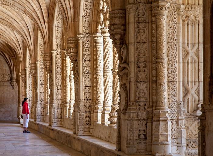 Belém: Mosteiro dos Jerónimos - Kreuzgang Lissabon