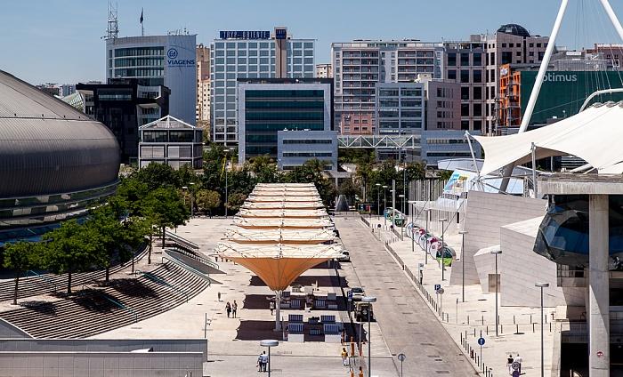 Parque das Nações: Blick aus der Teleférico da Expo Lissabon