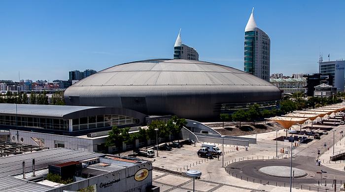 Parque das Nações: Blick aus der Teleférico da Expo - MEO Arena (bis 2013 Pavilhão Atlantico) Lissabon 2013