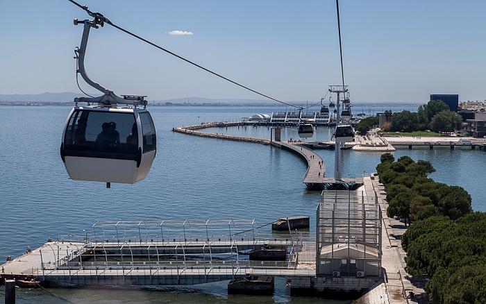 Parque das Nações: Blick aus der Teleférico da Expo - Tejo Lissabon
