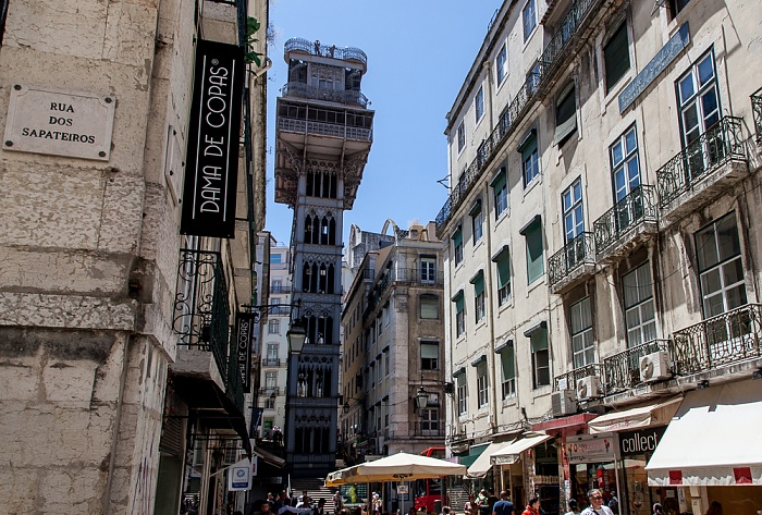 Baixa: Elevador de Santa Justa Lissabon