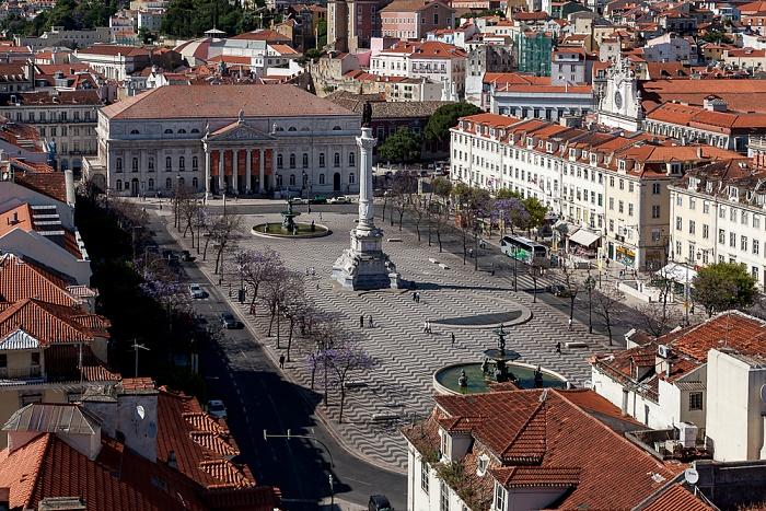 Blick vom Elevador de Santa Justa: Baixa Lissabon 2013