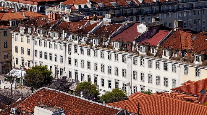 Blick vom Elevador de Santa Justa: Baixa Lissabon