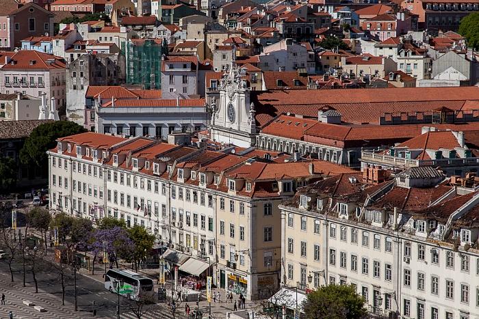 Lissabon Blick vom Elevador de Santa Justa: Baixa Igreja de São Domingos
