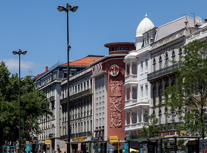 Baixa: Praça dos Restauradores Lissabon