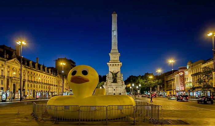 Baixa: Praça dos Restauradores - Obelisk Lissabon