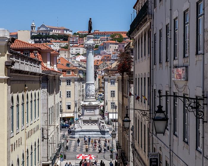Baixa: Calçada do Carmo, Praça Dom Petro IV (Rossio) Lissabon