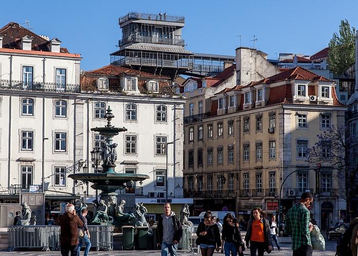 Baixa: Praça Dom Petro IV (Rossio) Lissabon